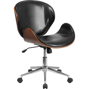 Linda Mid-Back Swivel Office Chair Black Brown Chairs Free Shipping
