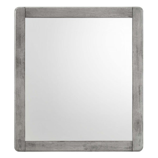 Boston Wood Mirror in Gray