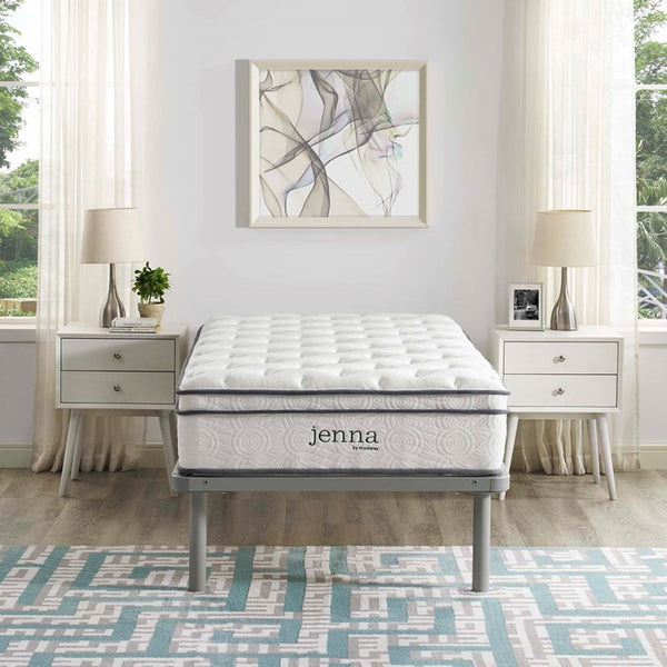 "Jenna 10"" Twin XL Innerspring Mattress in White"