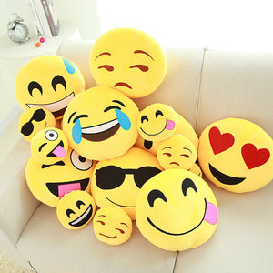 Emoji Pillow Cushions - Smiley Wink Love Flirt Lol Free Shipping