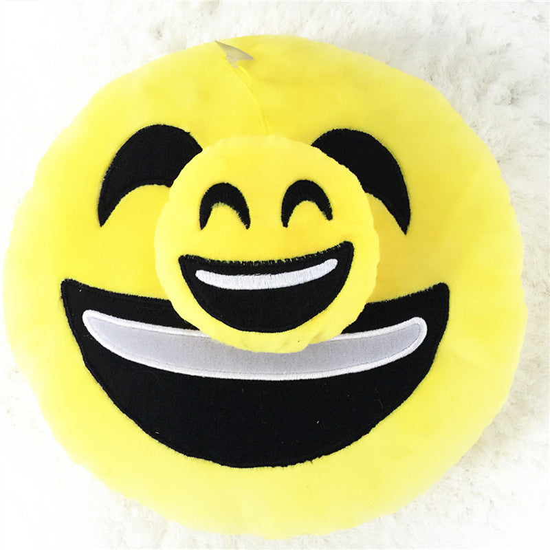 Emoji Pillow Cushions - Smiley Wink Love Flirt LOL - living-essentials