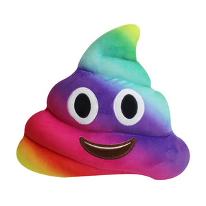 Rainbow Poo Shaped Pillow Free Shipping