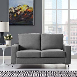 Alison Upholstered Sofa Gray Free Shipping