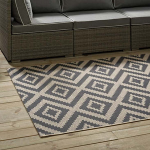 Janet Geometric Diamond Trellis 8X10 Indoor And Outdoor Area Rug Rugs Free Shipping