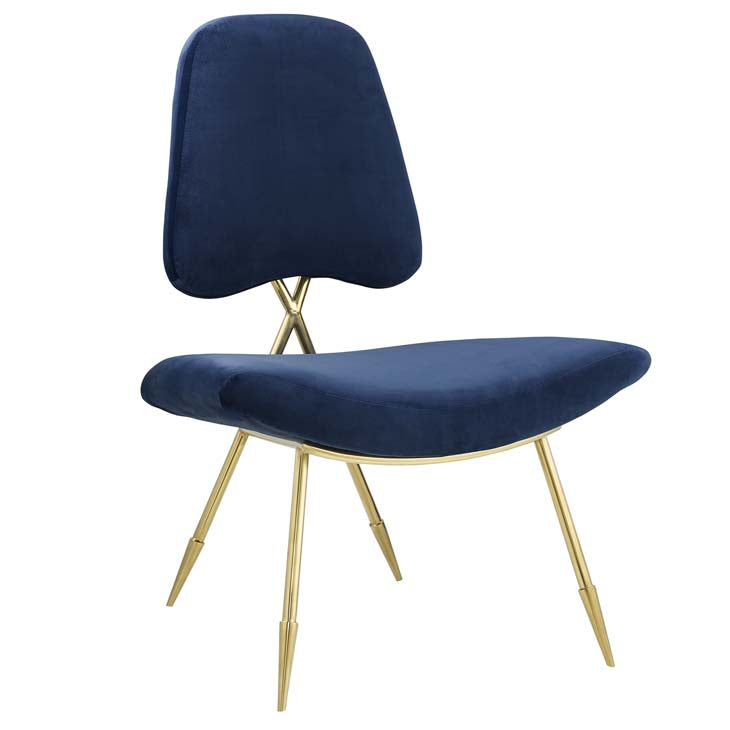Pittman Upholstered Velvet Lounge Chair - living-essentials