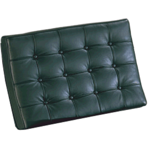 Barcelona Style Chair Cushions Top Grain Italian Leather / Black Replacement Parts Free Shipping