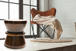 Emfurn Block Walnut Stool