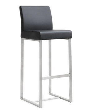 Deangelo Black Stainless Steel Barstool (Set Of 2) Bar Stools Free Shipping
