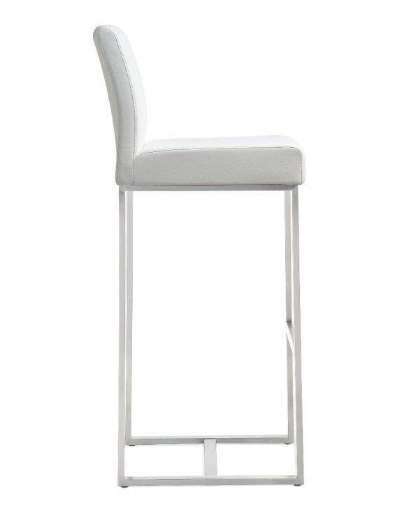 Deangelo White Steel Barstool (Set of 2) - living-essentials