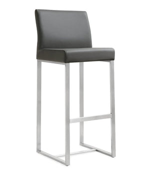 Deangelo Grey Steel Barstool (Set Of 2) Bar Stools Free Shipping