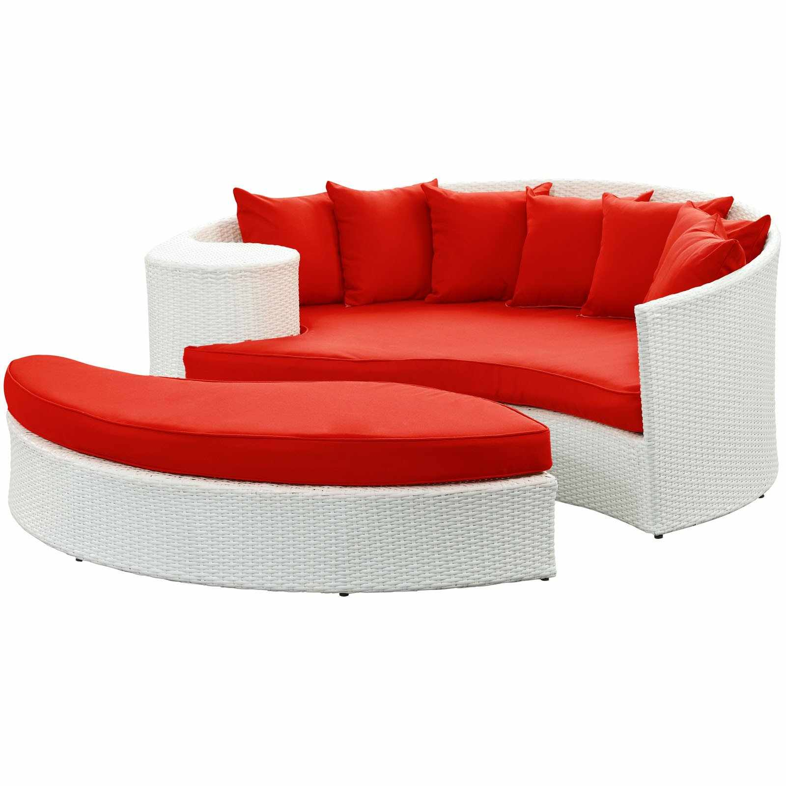 Havana Outdoor Daybed Ottoman And Pillows Included Free