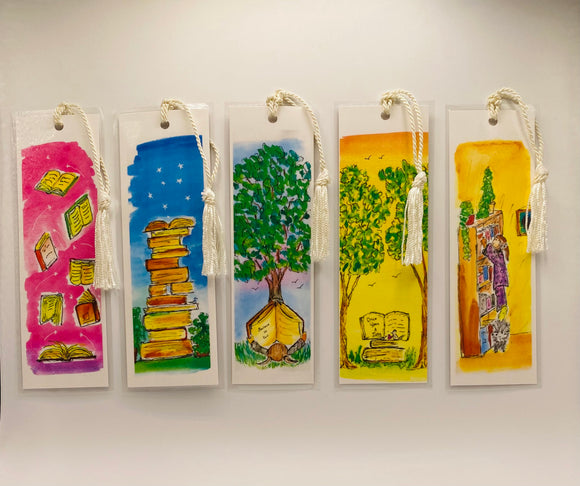Set Of 5 Laminated Bookmarks