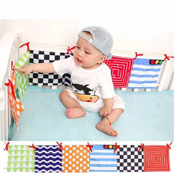 Baby Bed Bumper Skin-friendly Crib Baby Bumpers Nursery Bumper Around Bed Protector Washable Baby Bed Accessories