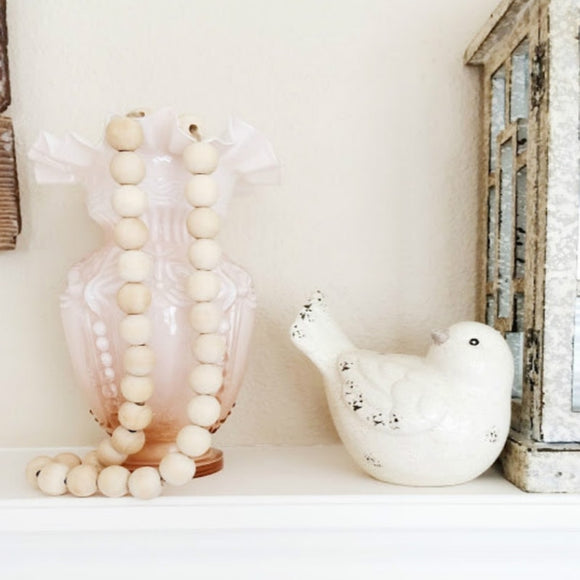 Natutral Wooden Bead Kids Baby Nursery Room Decor Decoration Wooden Deads Baby Accessories Rustic Wedding Vase Ornament