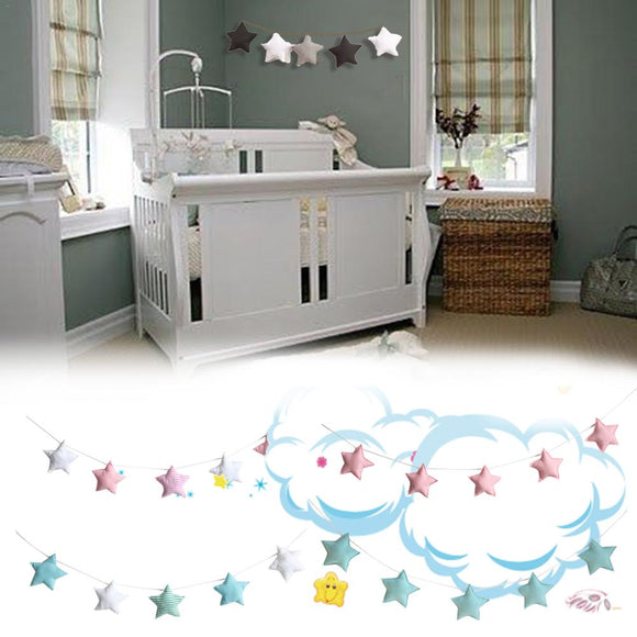 Nordic stars children room wall decoration handmade nursery star garlands children's room DIY photography accessories
