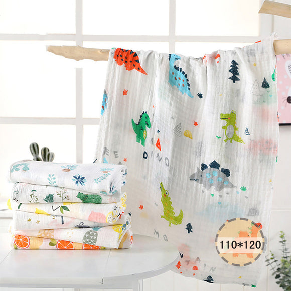 1Pc muslin 110*120CM Cotton Baby Swaddles Soft Newborn Blankets Bath Gauze Infant Wrap sleepsack Stroller cover Play Mat