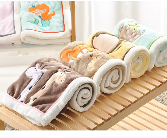 NEW Genuine Baby Blanket Baby Swaddle  100*75CM Wrap Newborn Super Soft Kids Bedding Diaper AKX11