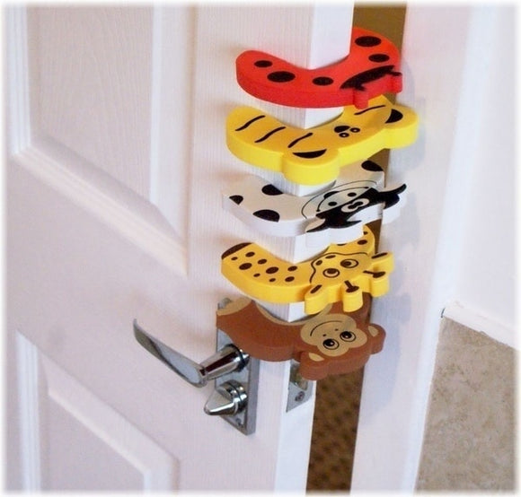 child safety 5pcs/Lot Baby Child Proofing Door Stoppers Finger Safety Guard