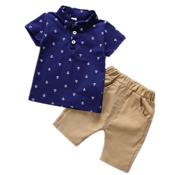 2019 summer Children's Clothes Sets Boys T-shirt and Shorts Pants 2 pieces Clothing sets children's clothing Baby Boys clothes