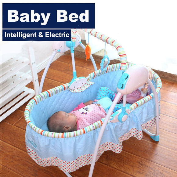 Intelligent Electric Baby Cradle Bed Set Foldable Childcare Cosy Sleeper Travel Bassinet Cot Crib Comfort Smart Baby Cradle Bed