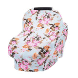 Flowers Printed Baby Nursing Privacy Cover Infant Stroller Car Seat Scarf Soft Breastfeeding Covers Stroller Accessories