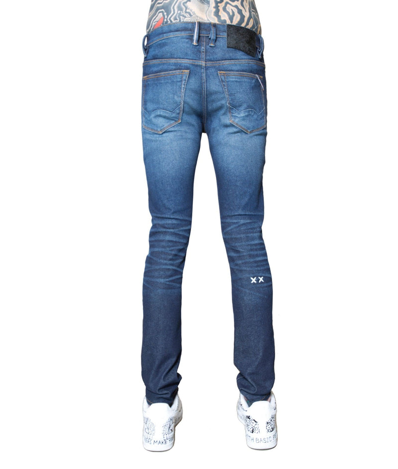 Cult Of Individuality Punk Super Skinny Stretch Jeans (2 Year Indigo) 69BC-SS06N