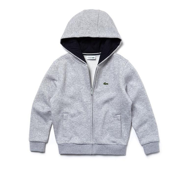 KIDS LACOSTE ZIPPER SWEATSHIRT GREY