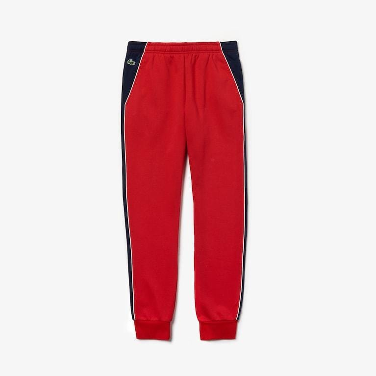 LACOSTE SPORT FLEECE SWEATPANTS RED/NAVY