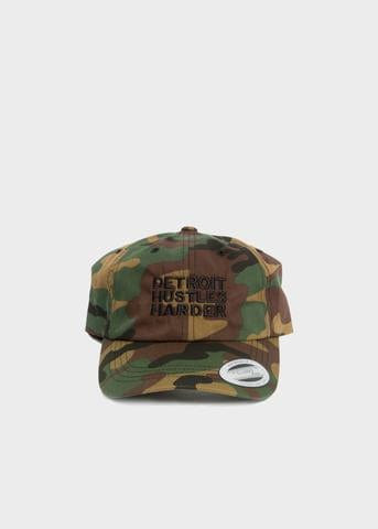 Detroit Hustles Harder Dad Hat (Camo/Black)