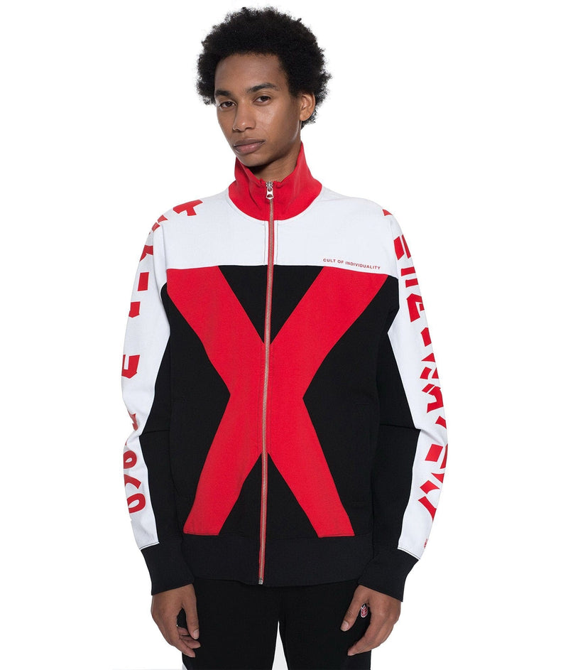 CULT OF INDIVIDUALITY TRACK JACKET RED 69A2-ZT99