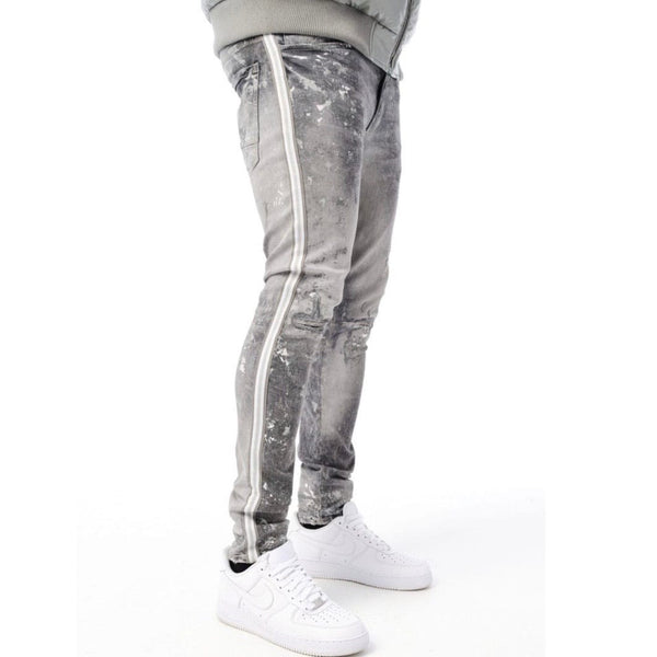 Jordan Craig Sean Sugar Hill Striped Denim (Arctic White) JM3430