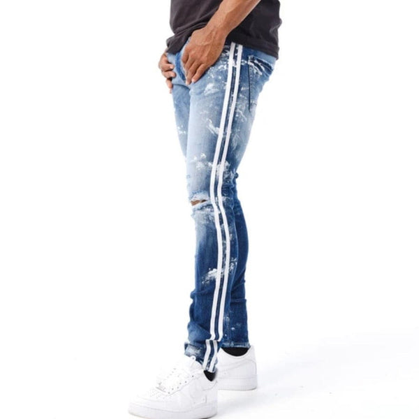 Jordan Craig Omaha Striped Denim (Aged Wash) JR1011