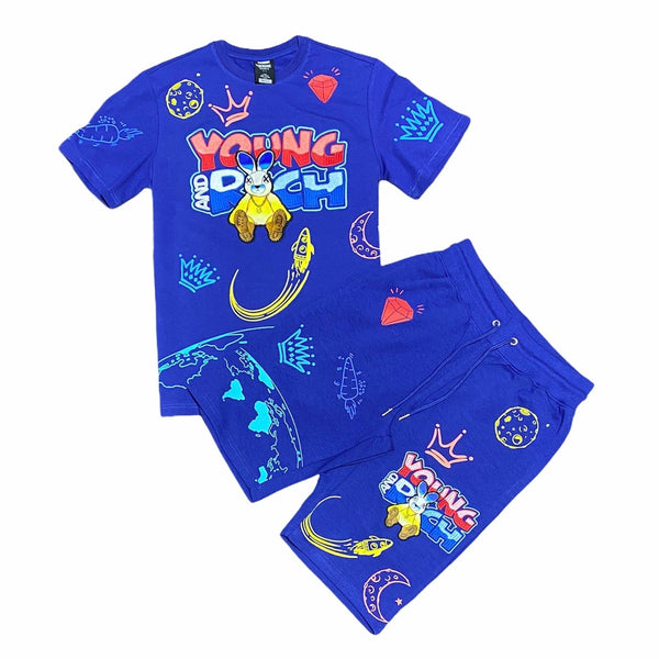 Genuine Young & Rich Short Set (Dark Royal) GN1099/GN1100