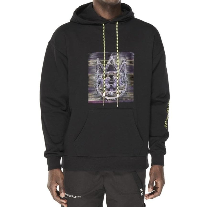 Cult Of Individuality Pullover Patchwork Hoody Blk