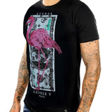 George V Flamingo Cash Tee (Black) GV-2060