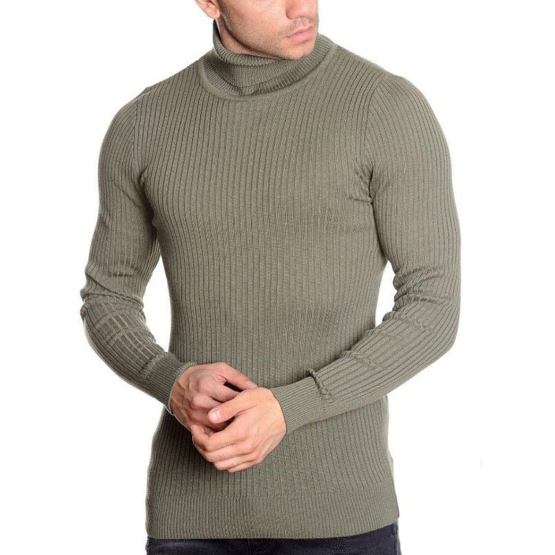 LCR Black Edition Turtleneck Sweater (Olive) 1670C