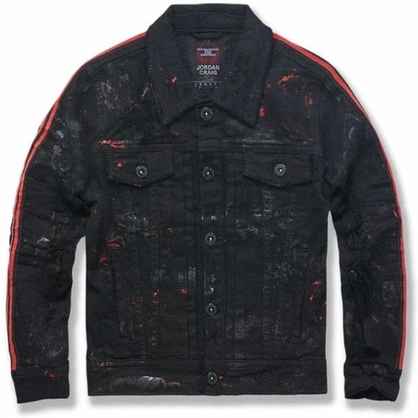 Kids Jordan Craig Dillinger Striped Trucker Jacket (Bred) 91526AB