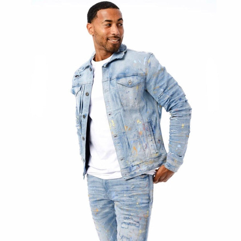 Jordan Craig Avalanche Denim Trucker Jacket (Lightning Blue) 91510