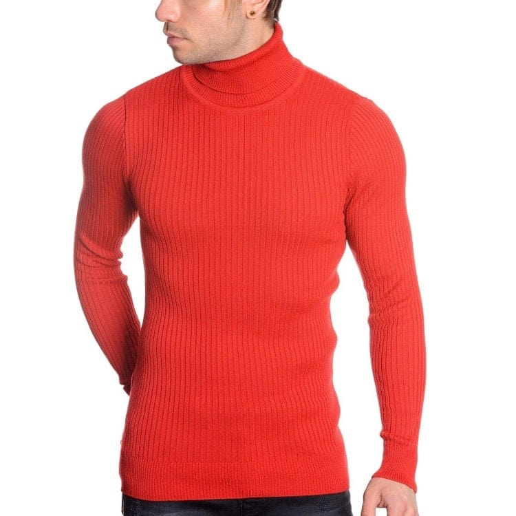 LCR Black Edition Turtleneck Sweater (Red) 1670C