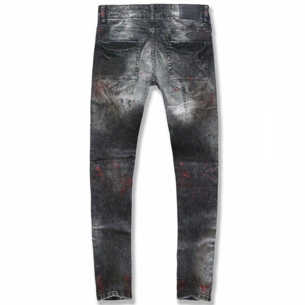 Jordan Craig Sean Sugar Hill Striped Denim (Crimson) JM3430