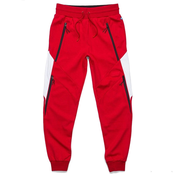 Cookies Sweatpants W/ Rubber Logo Patch (Red) 1544B4078