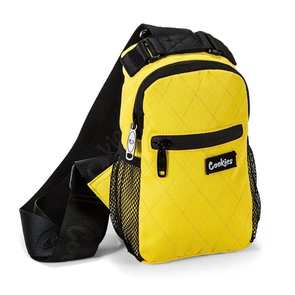 "Cookies ""Noah"" Quilted Over The Shoulder Bag Yellow"