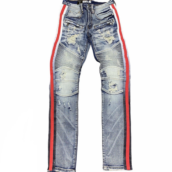Preme Red Faded Stripe Jean (Indigo)