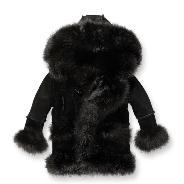 Kids Jordan Craig Shearling Coat (Black)