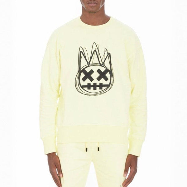 Cult Of Individuality Crew Neck Fleece (Lemonade) 621A0-FC24B