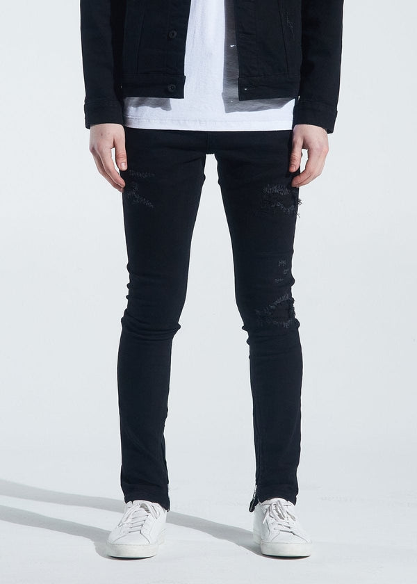 Crysp Jean Black Distressed Pacific