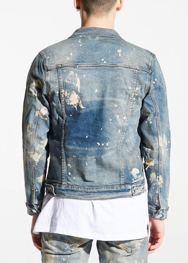 EMBELLISH WILLIAMSON DENIM JACKET LIGHT BLUE EMBSP119-209