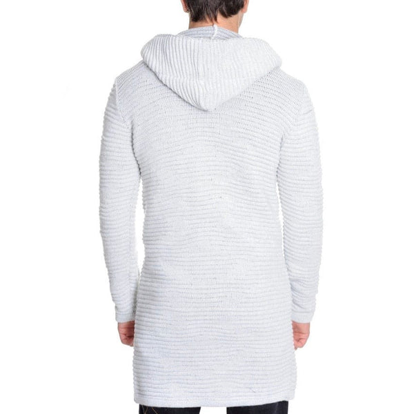 Lcr Long Hooded Sweater (Ecru/Grey)