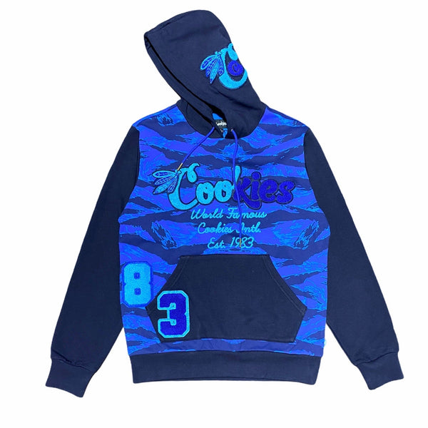 Cookies Top Of The Key Fleece Pullover Hoodie (Blue/Tiger Camo) 1546H4346