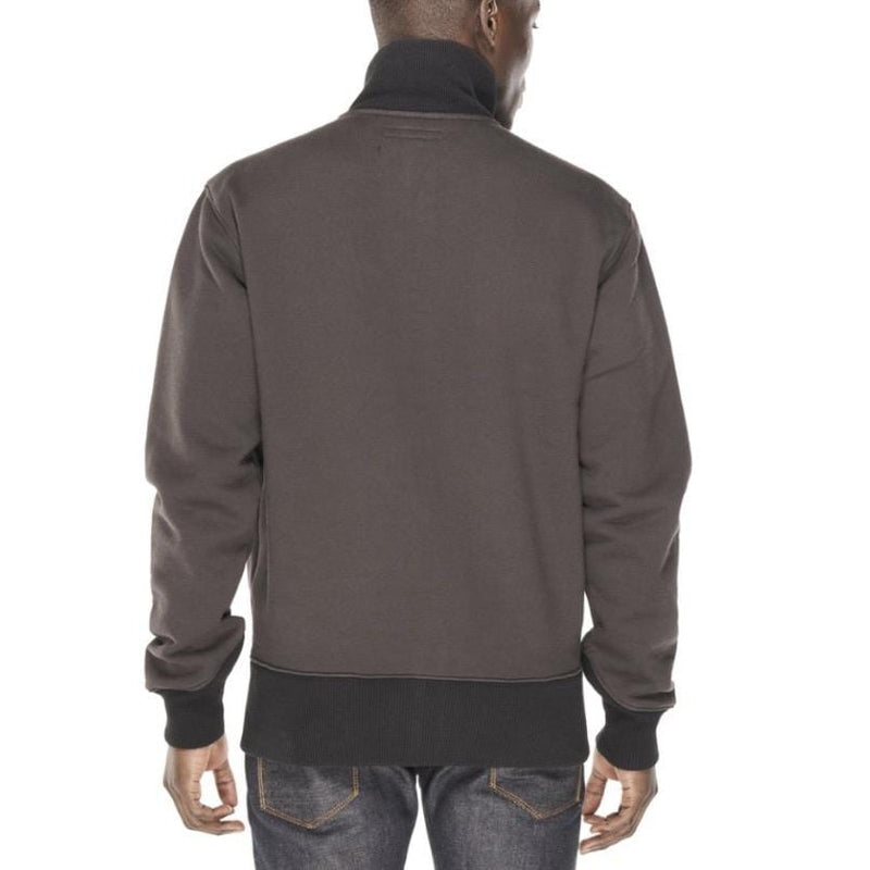 CULT OF INDIVIDUALITY FULL ZIP SWEATER CHARCOAL